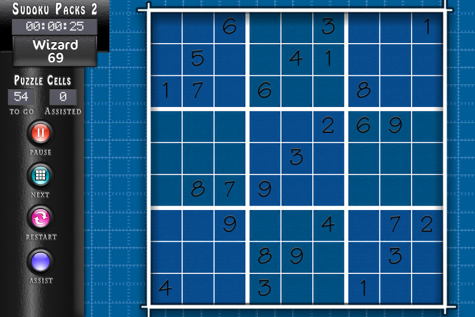 Sudoku Blueprint Theme